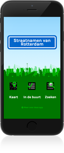 screenshot Straatnamen van Rotterdam for iphone
